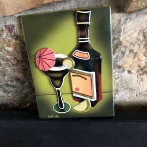 Wall Art Ceramic Tequila Margarita Rafuse design